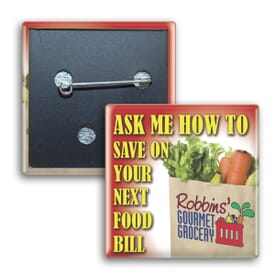 Square Promotion Pin
