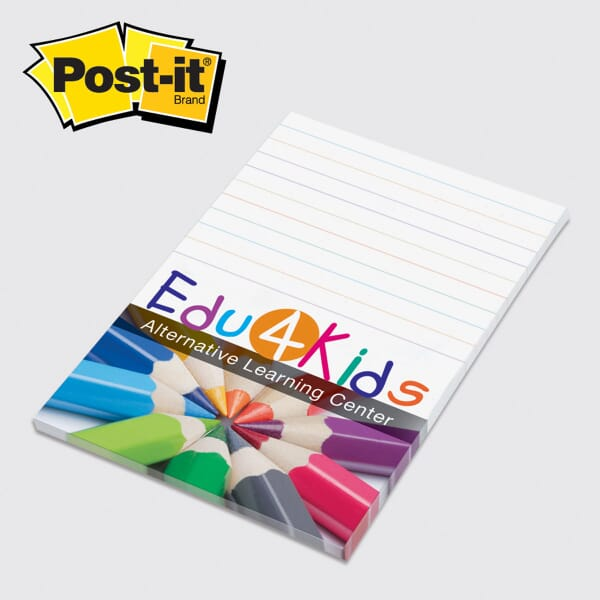 "Post-It® Note Pad -4"" x 6""- 25 Sheets Full Color"