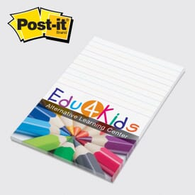 "Post-It® Note Pad - 4"" X 6""- 25 Sheets Full Color"