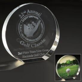 Small Translucent Elliptical Award