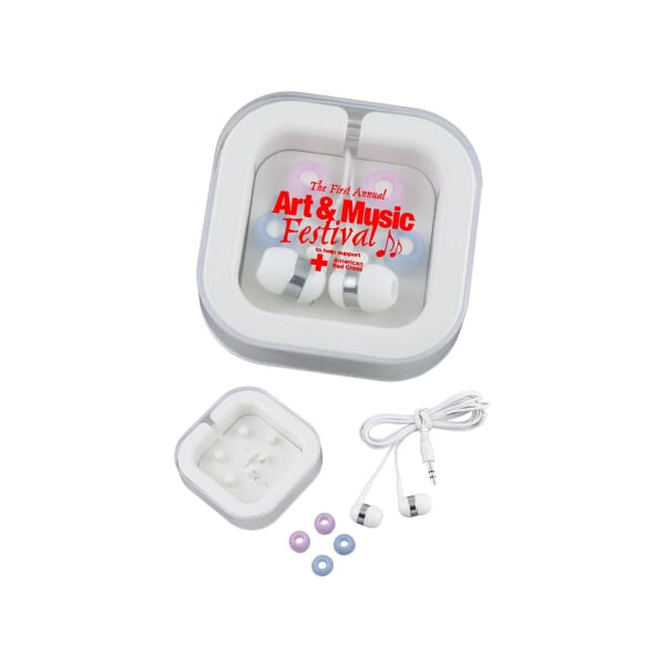 Color Code Earbuds W/ Case