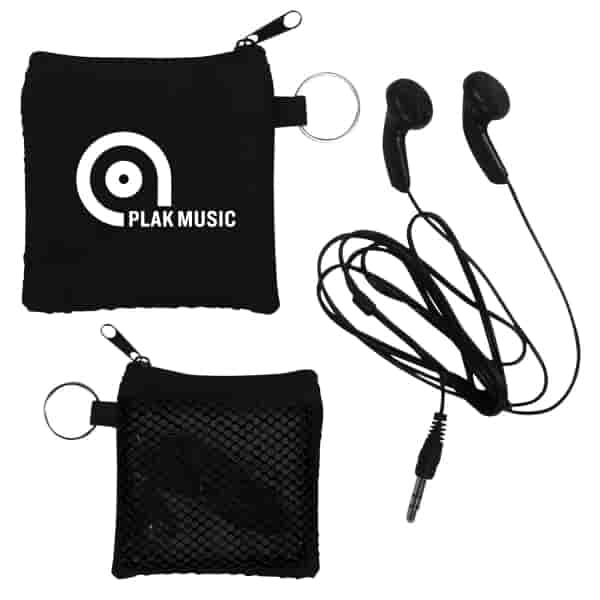 Ear Buds In Zippered Pouch