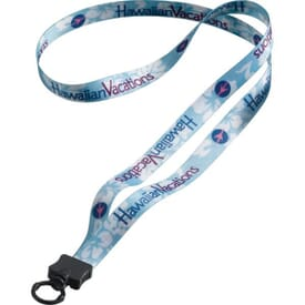 "1/2"" Polyester Lanyard W/ O-Ring Attachment"