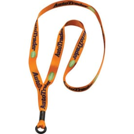 "1/2"" Polyester Lanyard W/ Rubber O-Ring Attachment"