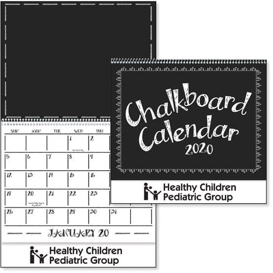 2020 Chalkboard Calendar