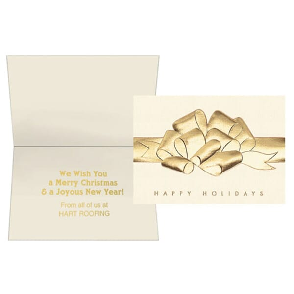 Raised Foil Bow Greeting Card