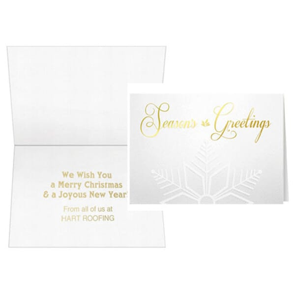 Gold Embossed Snowflake Greeting Card