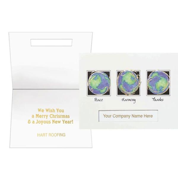 World Peace Harmony Thanks Greeting Card