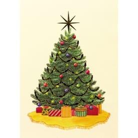 Gold Star Tree Greeting Card
