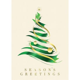 Brushstroke Tree Greeting Card