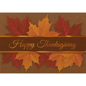 Thanksgiving Autumn Leaves Greeting Card