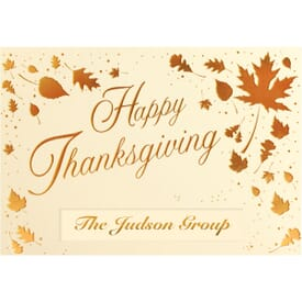 Scattered Thanksgiving Leaves Greeting Card