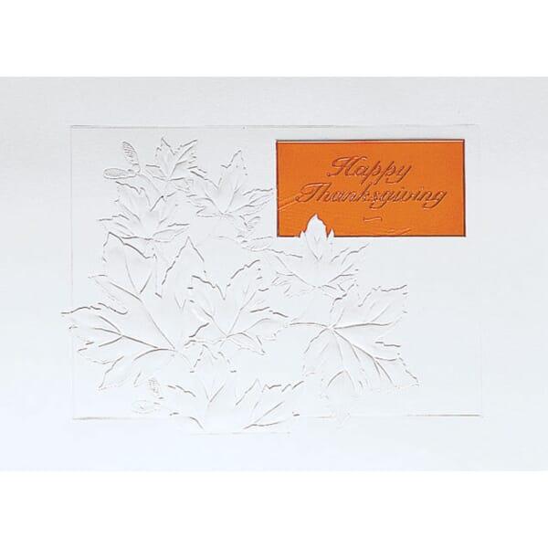 Embossed Fall Leaves Greeting Card