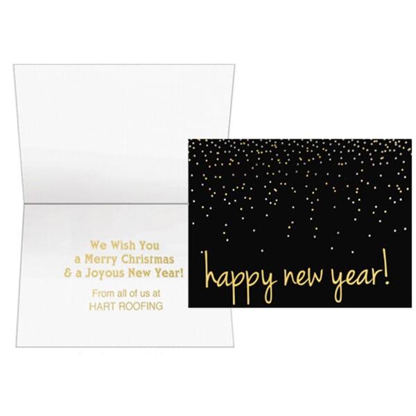 Confetti Happy New Year Greeting Card