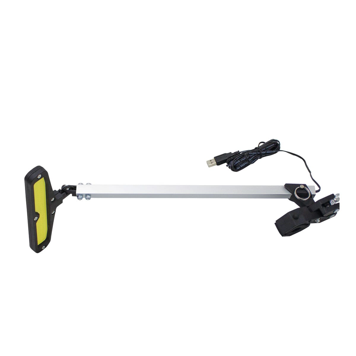 Black and white LED display light with long arm