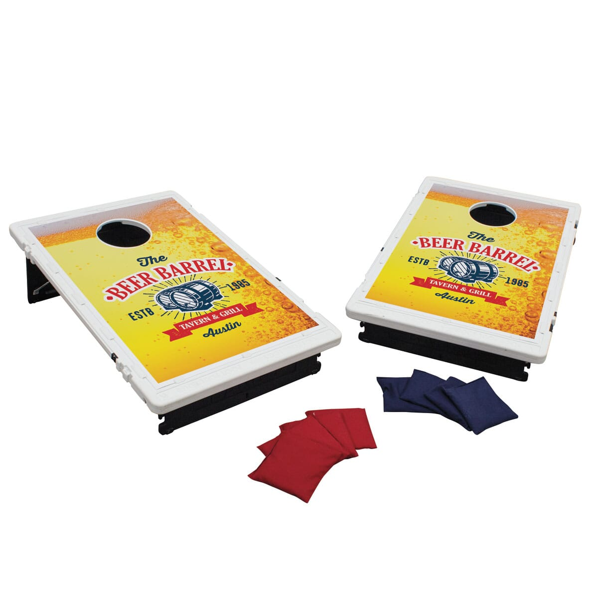 Custom travel cornhole