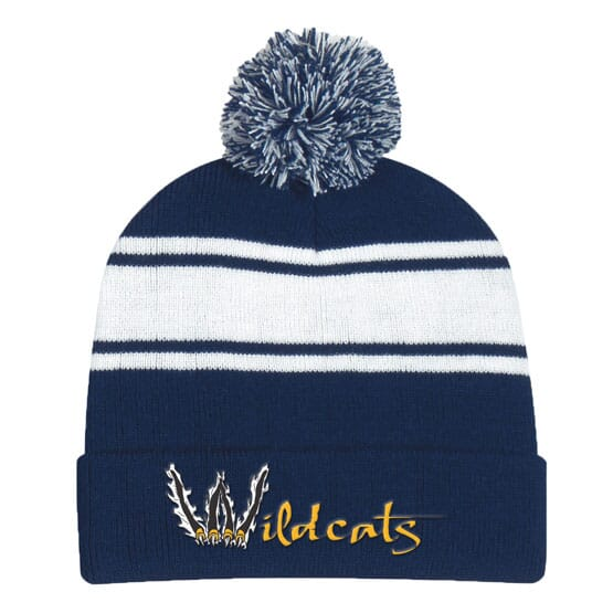 Dual Colors Top Pom Beanie