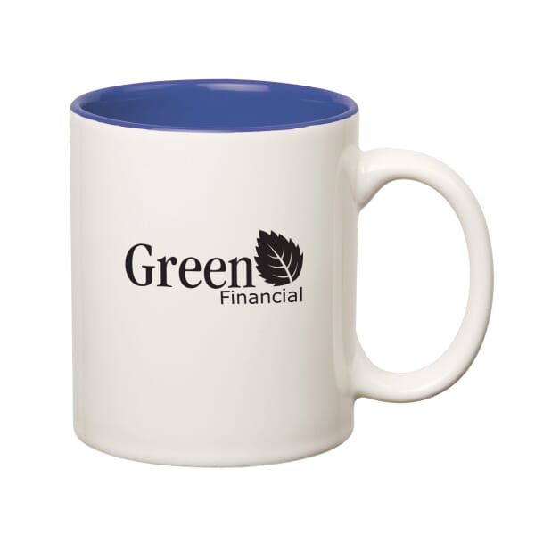 11 oz Colored Stoneware Mug with C-Handle