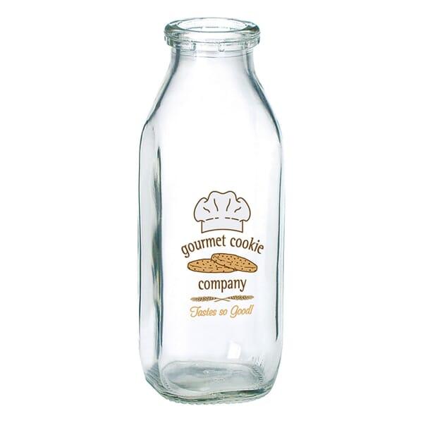 Glass 1/2 Quart Milk Jug