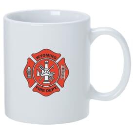 11 oz White Patriotic Mug