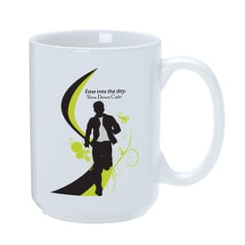 15 oz Large White Patriotic Mug