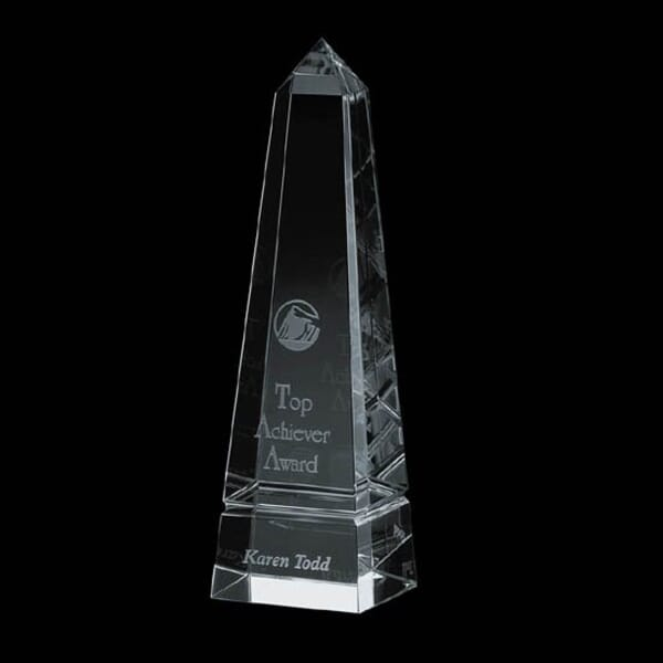 Crystal Creased Pillar Award