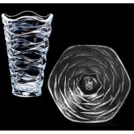 Crystal Waves Glass Vase