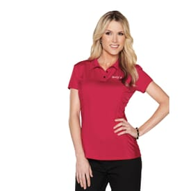 Ruched Jersey Polo - Ladies'
