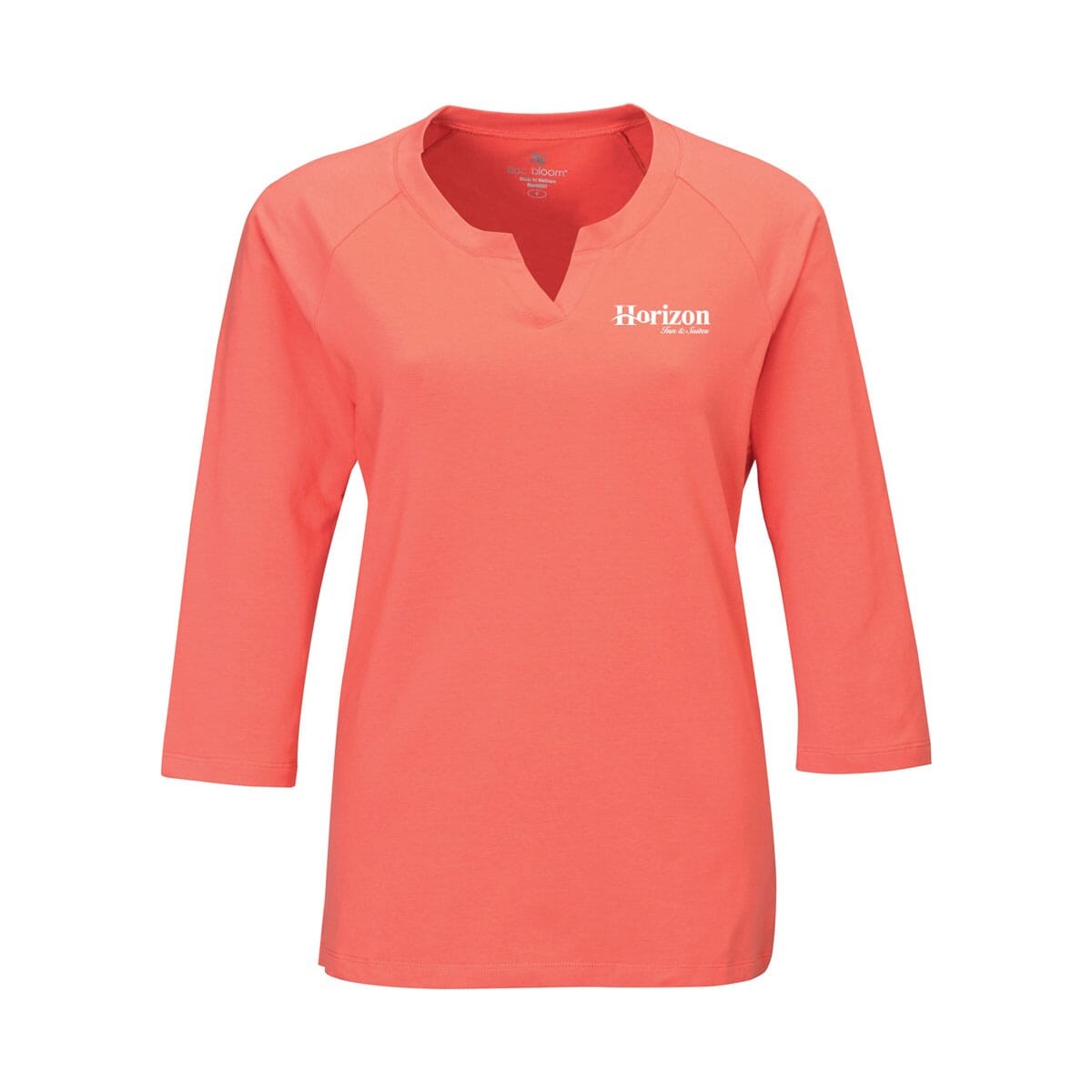 Womens Split-Neck Knit Shirt