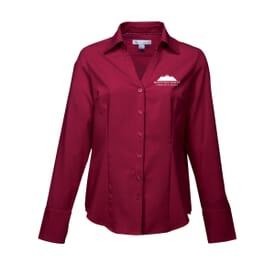 Open Neck Woven Dress Shirt - Ladies'