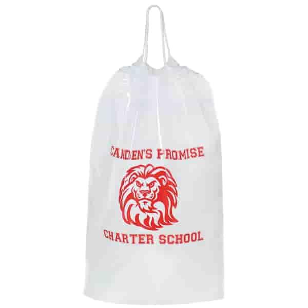 "12"" x 16"" x 4"" Cotton Corded Drawstring Bag"