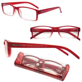 Soft Feel Reading Glasses W/Matching Case