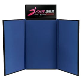 4' Tabletop Trifold Display Board With Header