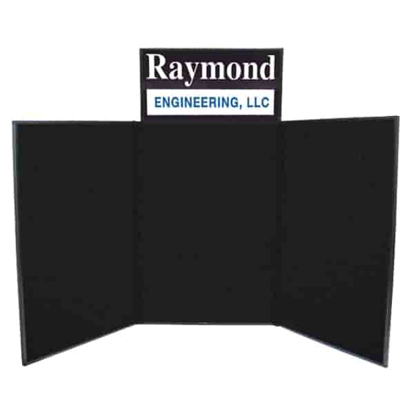 6' Tabletop Trifold Display Board With Header