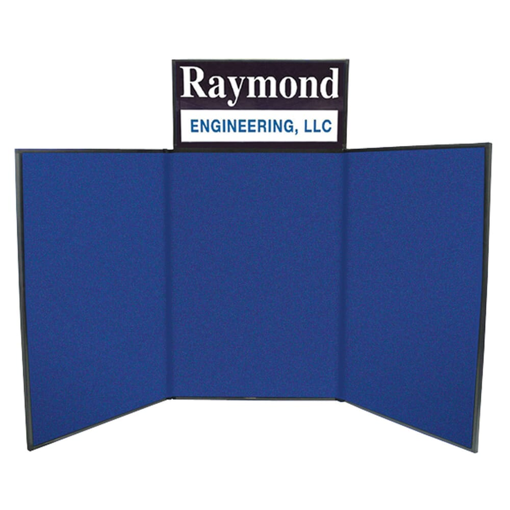 6 Tabletop Trifold Display Board With Header Promotional Crestline