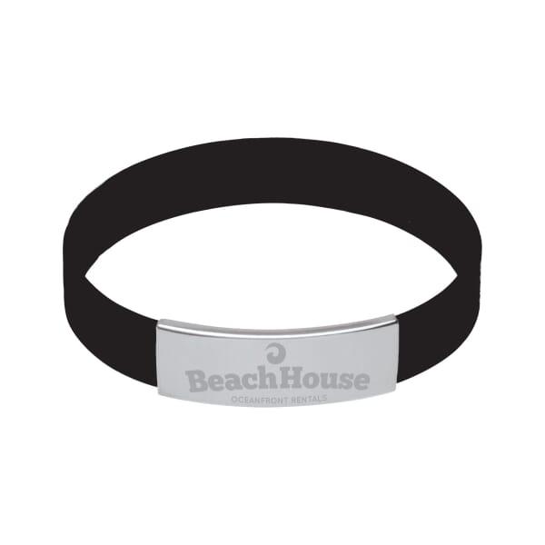 Metal Trim Silicone Bracelet