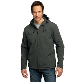Port Authority® Textured Hooded Soft Shell Jacket- Men's