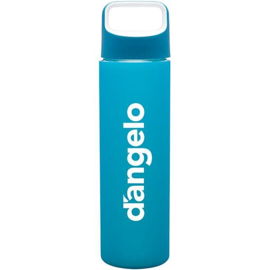 18 oz h2go® Silicone Colors Glass Tumbler