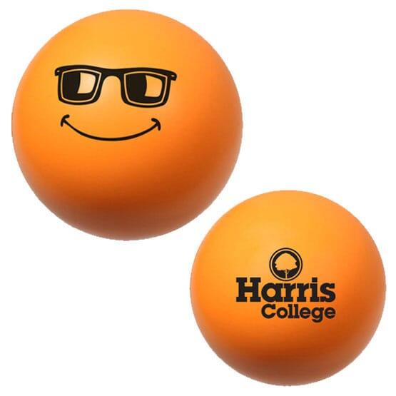 Orange emoticon stress reliever