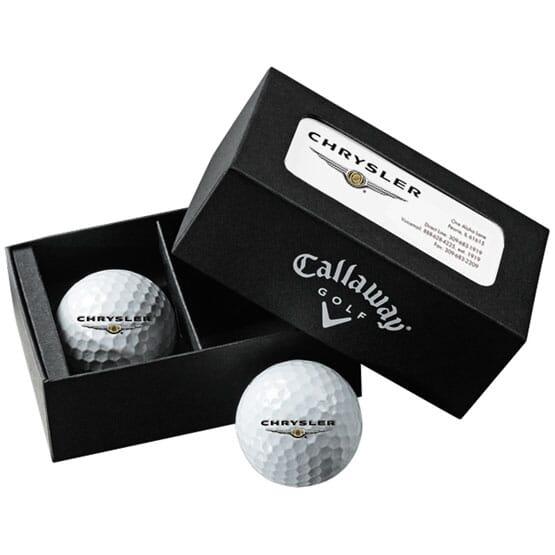 Callaway® 2-Ball Business Card Box w/Warbird