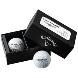 Callaway® 2-Ball Business Card Box W/Warbird