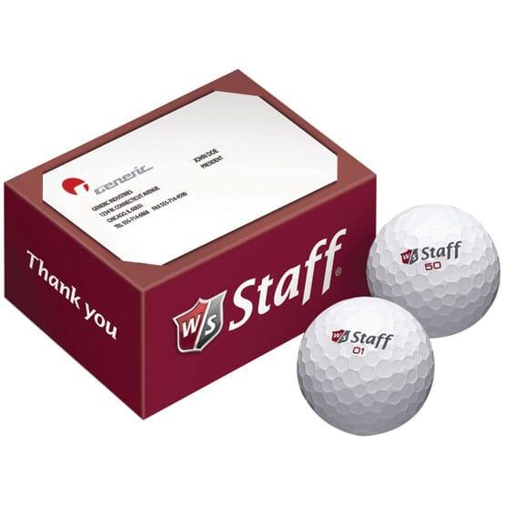 Wilson® Staff 2 Ball Business Card Box