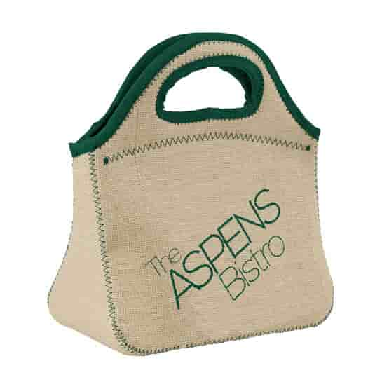 Burlap Lunch Bag