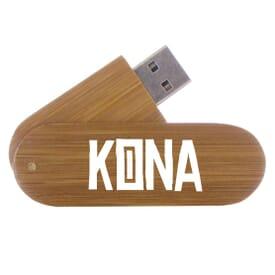2GB Wood Grain USB Flash Drive