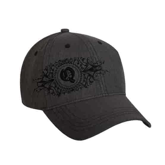 6 Panel Structured Synthetic Linen Baseball Cap