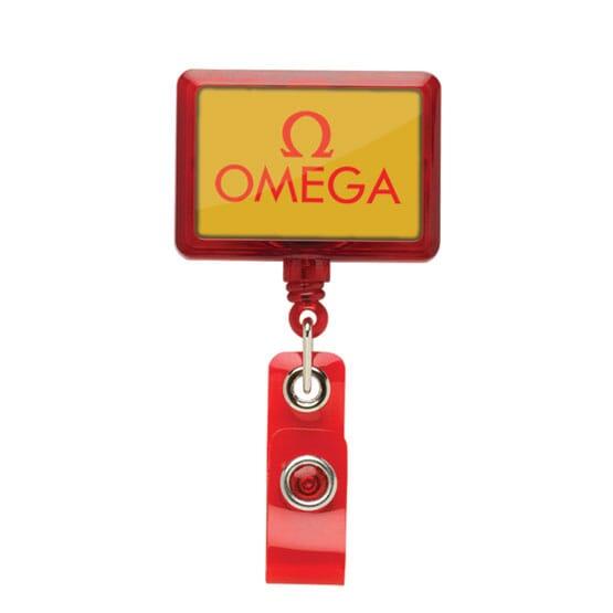 Dome Style Luminous Rectangular Badge Reel