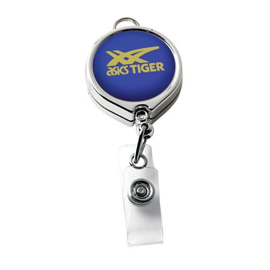 Elliptical Chrome Badge Reel