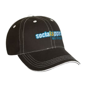 Low Profile Structured Contrast Stitching Baseball Cap