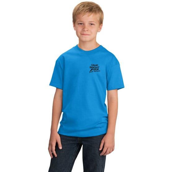 Bright blue youth t-shirt