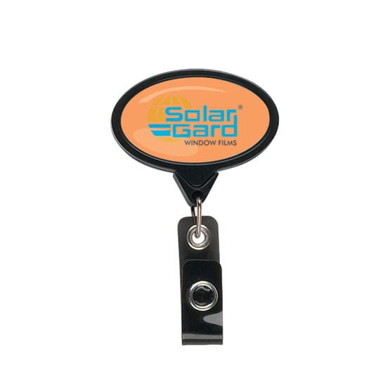 Dome Style Elliptical Message Badge Reel